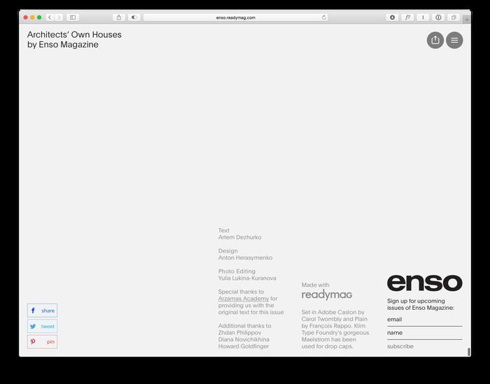 Enso magazine: Architects' Own Houses 2