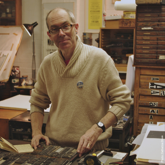 The designer and typesetter, Phil Baines.