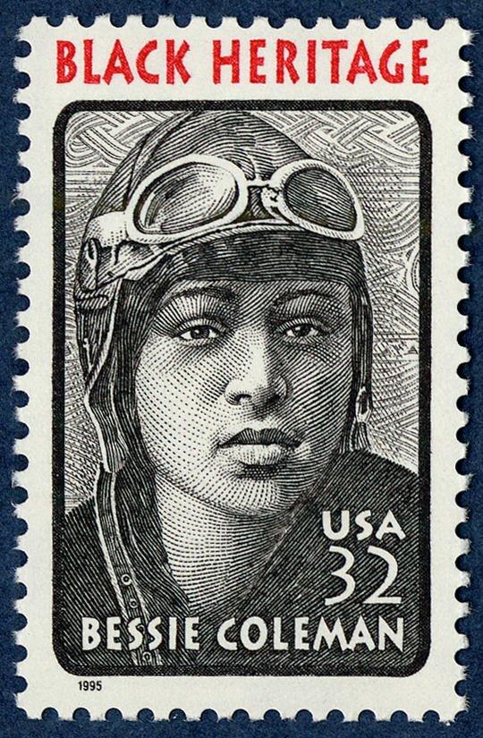 Black Heritage: Bessie Coleman stamp