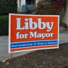 """Libby for Mayor"" lawn sign (2014)"