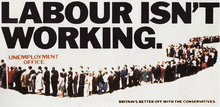 """Labour Isn't Working"", UK Conservative Party poster, 1978"