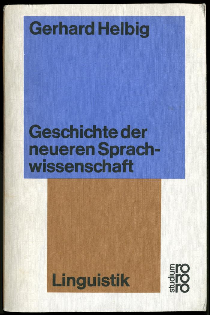 rororo studium, Nr. 48. Linguistics: History of more recent philology (1974)