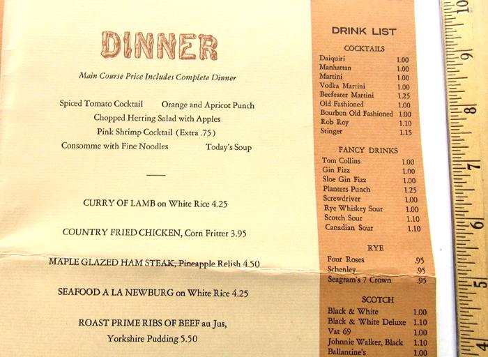 Bear Mountain Inn menus 3
