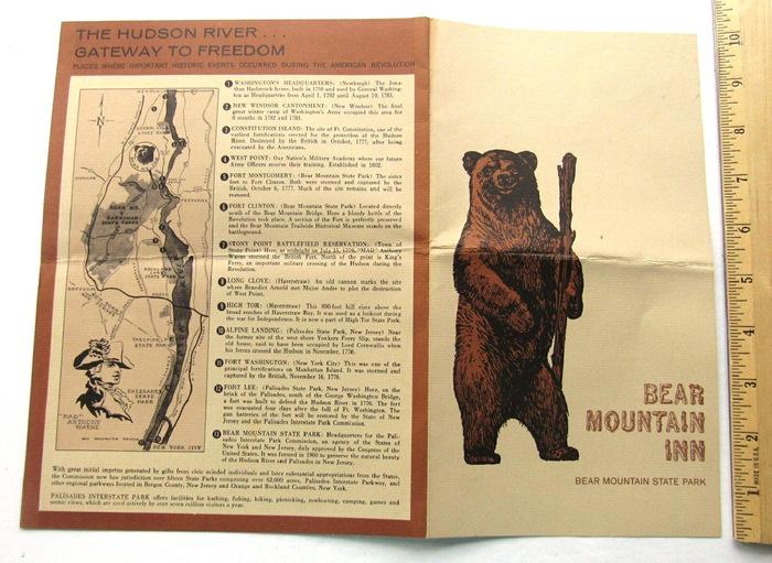 Bear Mountain Inn menus 1