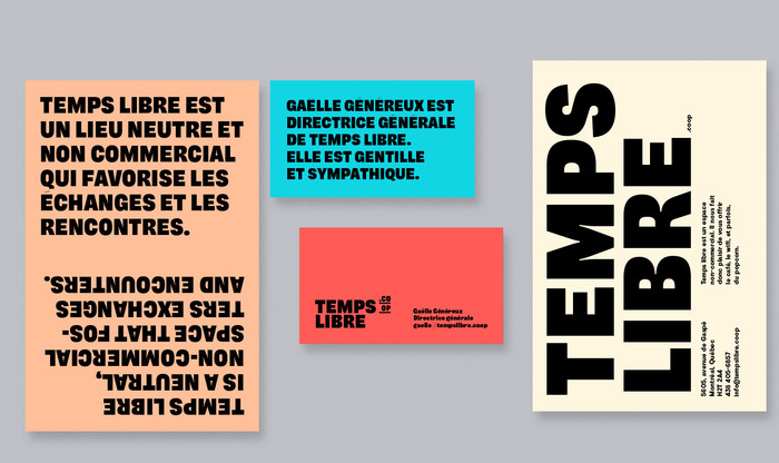 Temps Libre identity and website 1