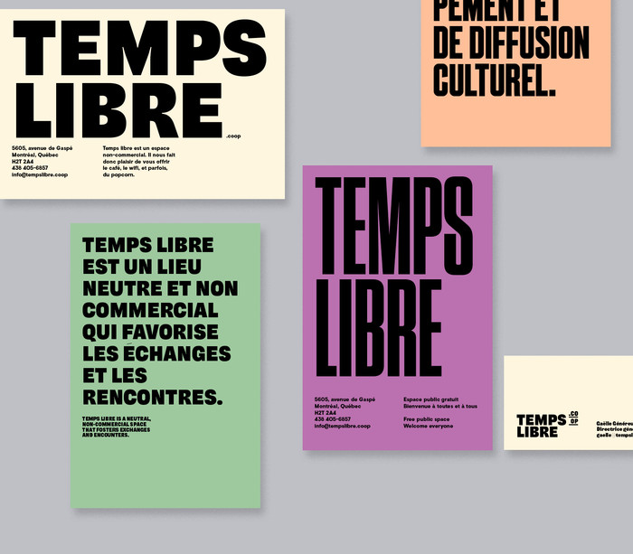 Temps Libre identity and website 2
