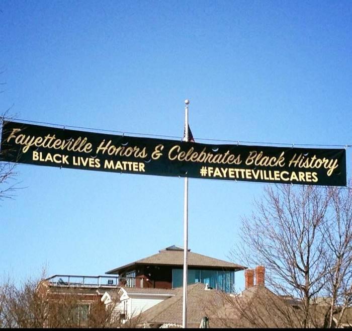 """Fayetteville Honors & Celebrates Black History"" banner"