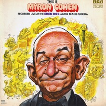 <cite>This is Myron Cohen </cite>album art