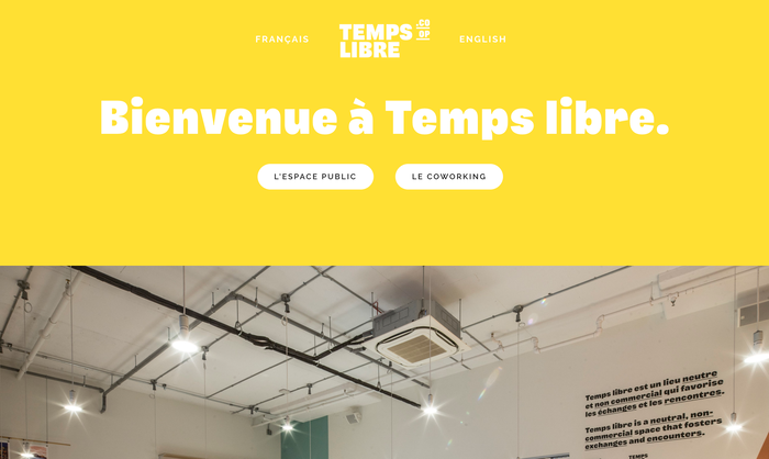 Temps Libre identity and website 4