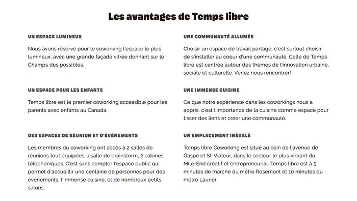 Temps Libre identity and website 5