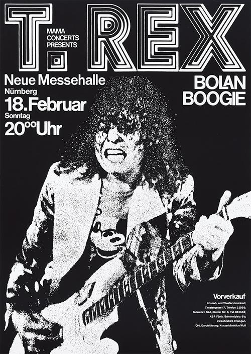 T. Rex at Neue Messehalle Nürnberg, February 18, 1973