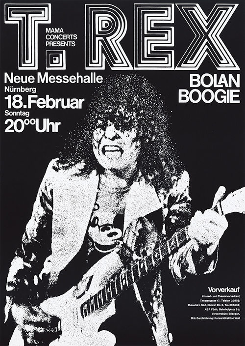 T. Rex at Neue Messehalle Nürnberg, February 18, 1973