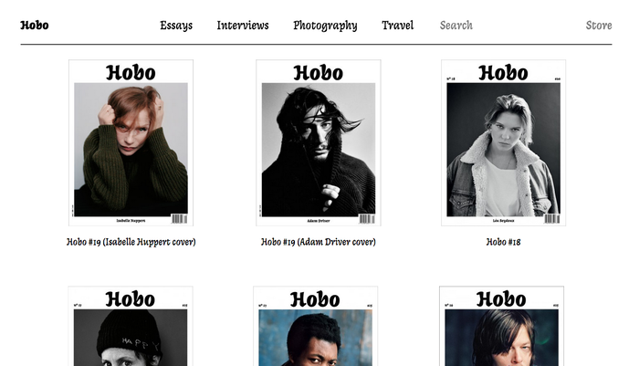 Hobo magazine website 1