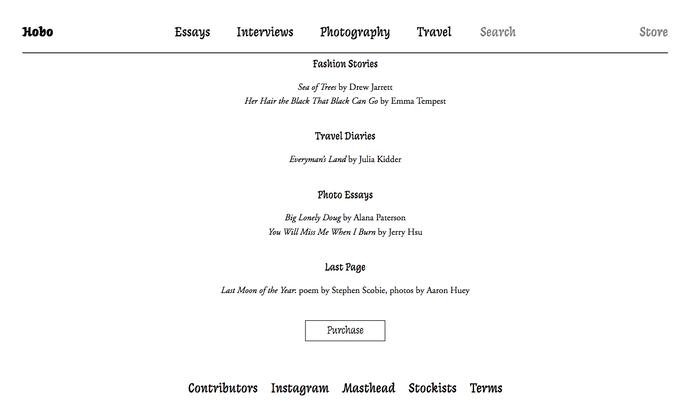 Hobo magazine website 3