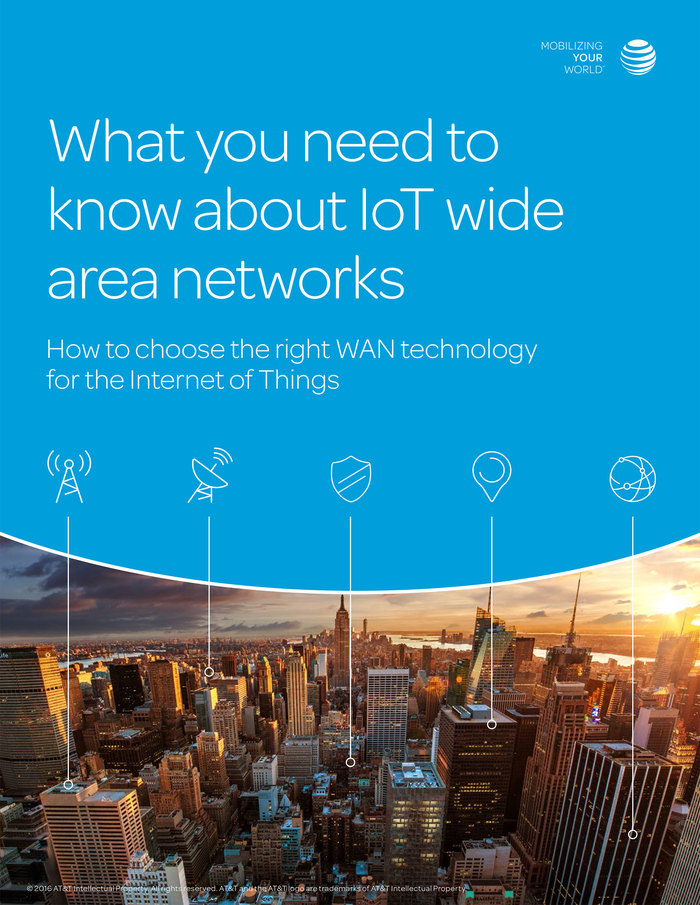 Cover of a whitepaper about technology for the Internet of Things
