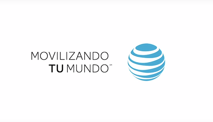 """Movilizando tu mundo"" — the slogan in Spanish, as seen in videos on the ATTLatino channel"