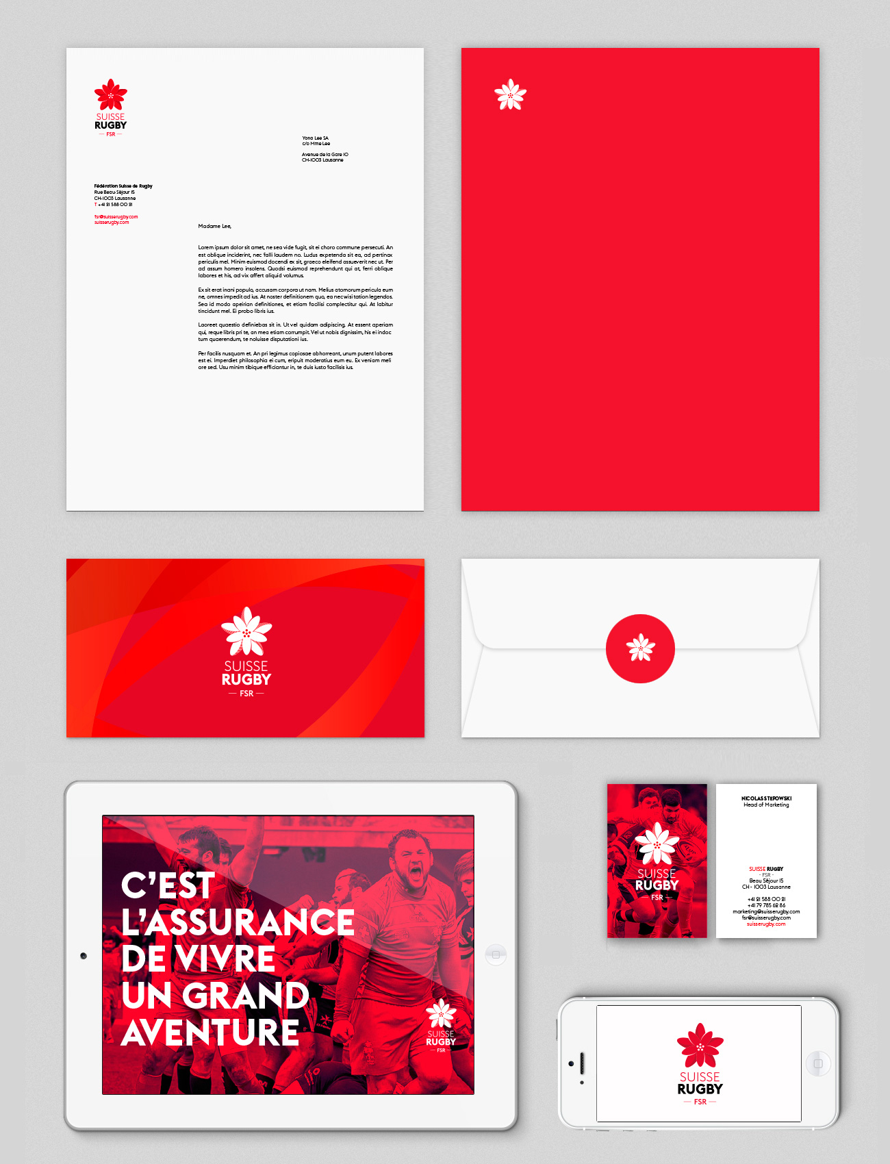 Suisse Rugby FSR Fonts In Use