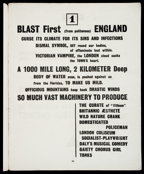Page from the first issue of BLAST (1914)