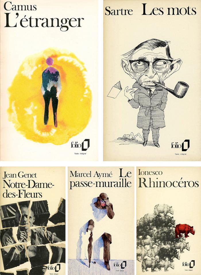 """Folio"" book series, Gallimard 2"