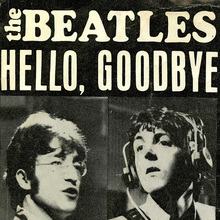 "The Beatles – ""Hello, Goodbye"" / ""I Am The Walrus"" Dutch single cover"