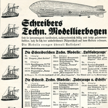 Ad for J.F. Schreiber papercraft sets