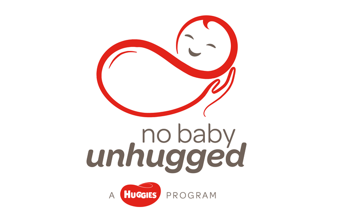 "Logo of the current ""No Baby Unhugged"" program, featuring Omnes Regular and the Semibold Italic."