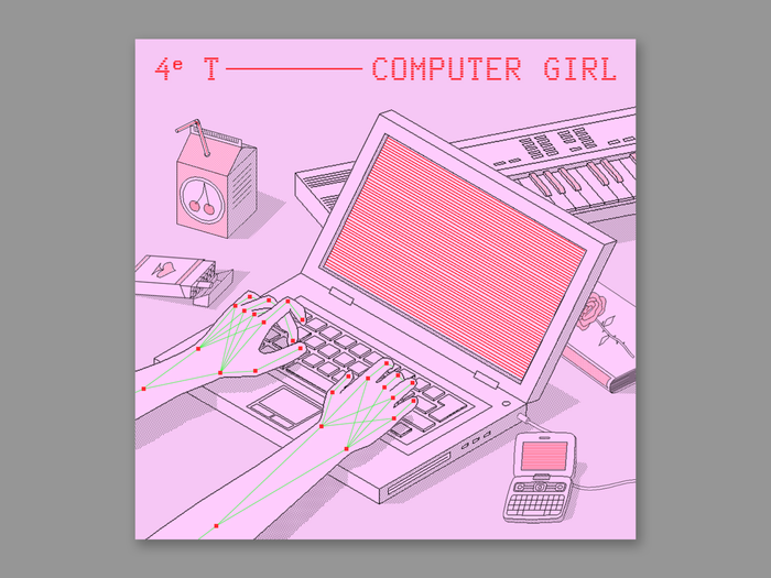 Computer Girl by 4e T 1
