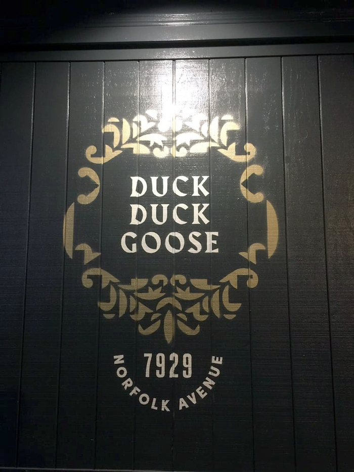 Duck Duck Goose restaurant hoardings 3