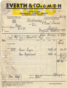 Everth & Co. invoice, 1929