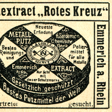 "Ad for concentrated detergent ""Rotes Kreuz"""
