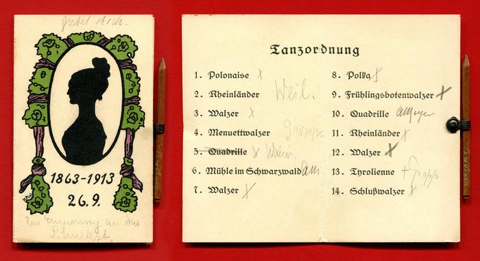 Tanzordnung, 1913