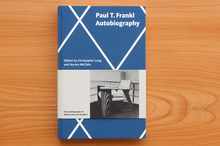 Cover of Paul T. Frankl's autobiography, set in Acorde.