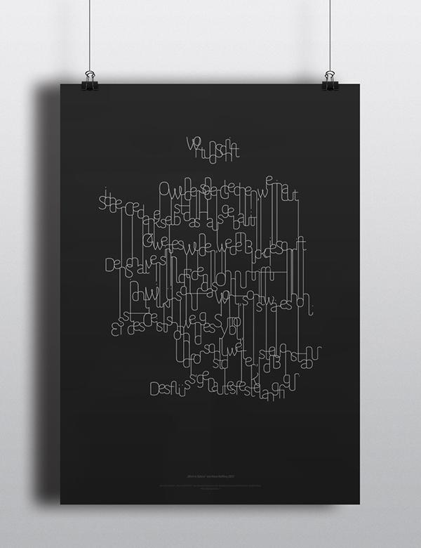 """""""Wort und Schrift"""" visual poem 1"""
