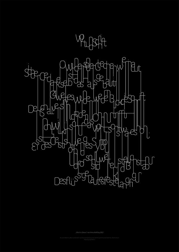 """""""Wort und Schrift"""" visual poem 2"""