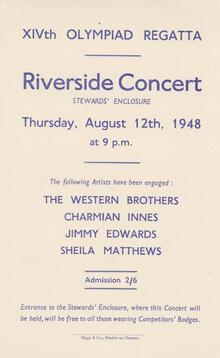 1948 Olympics Regatta Riverside Concert, Henley On Thames