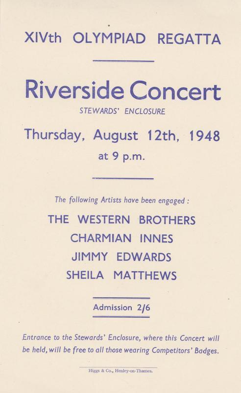 1948 Olympics Regatta Riverside Concert, Henley On Thames 1