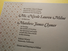 Milne & Clymer wedding invitation