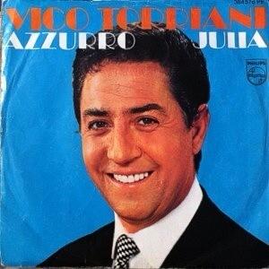 """Vico Torriani – """"Azzurro""""/ """"Julia"""" single cover"""