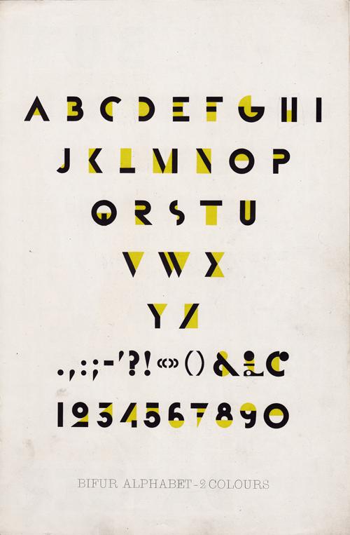 Bifur Typeface Specimen 4