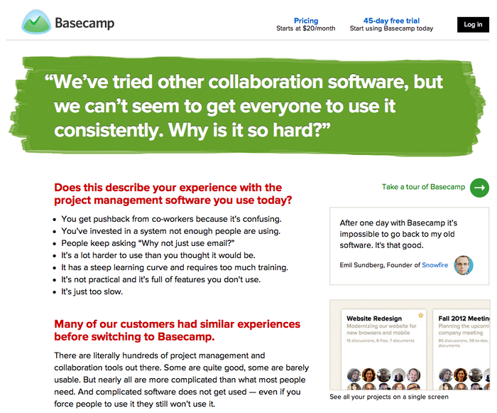 Basecamp 2 Product Site 2