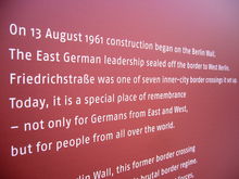 Berlin Wall Timeline Exhibition