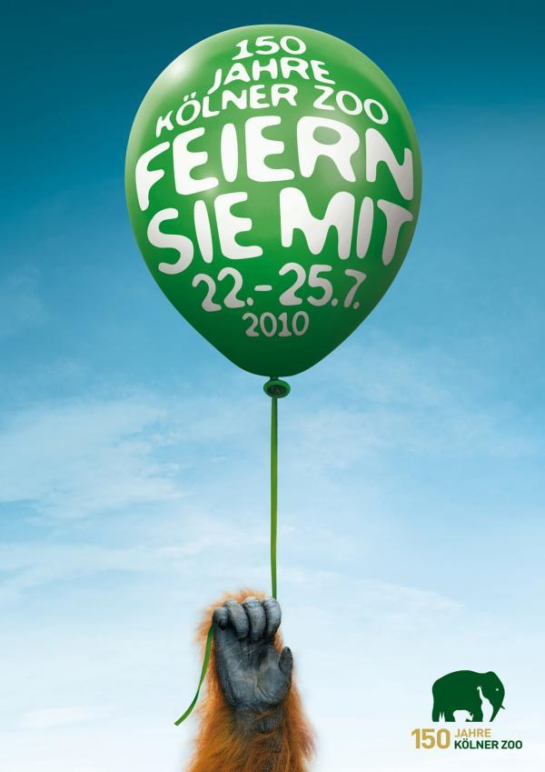 Kölner Zoo 150 Year Anniversary Ad Campaign 2