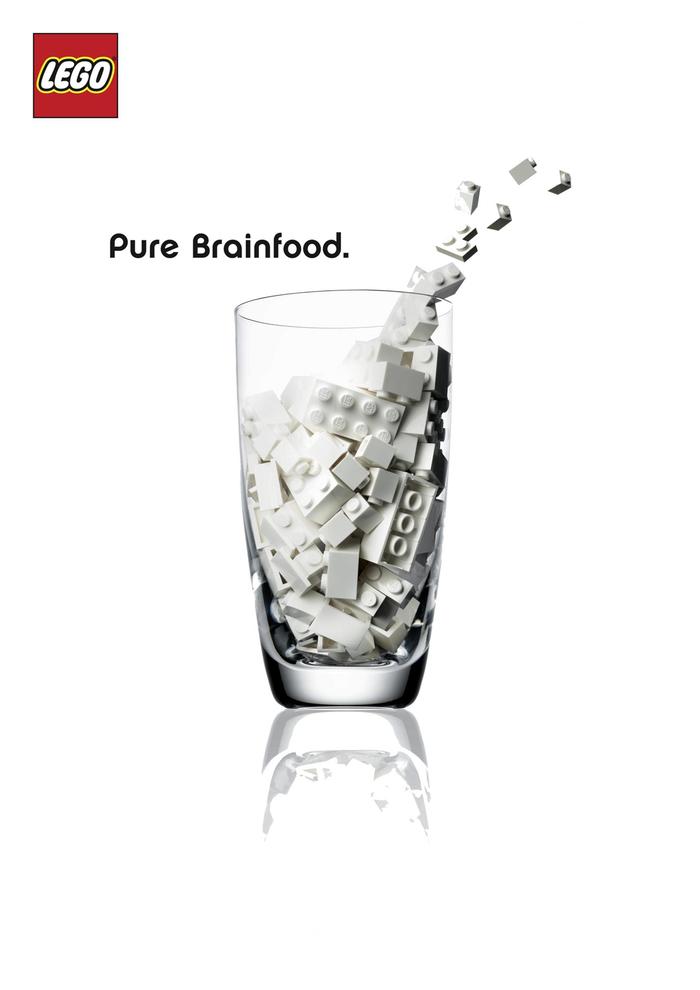"""LEGO """"Pure Brainfood"""" Ad Campaign 1"""