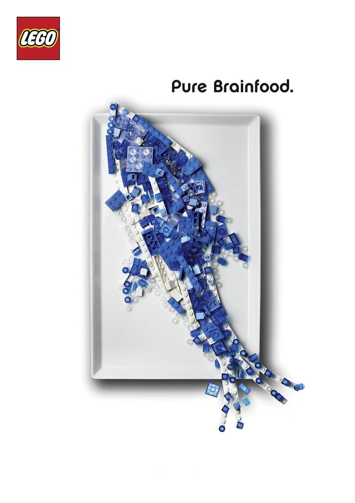 """LEGO """"Pure Brainfood"""" ad campaign 2"""