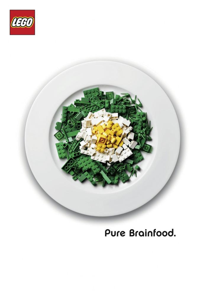 """LEGO """"Pure Brainfood"""" Ad Campaign 3"""