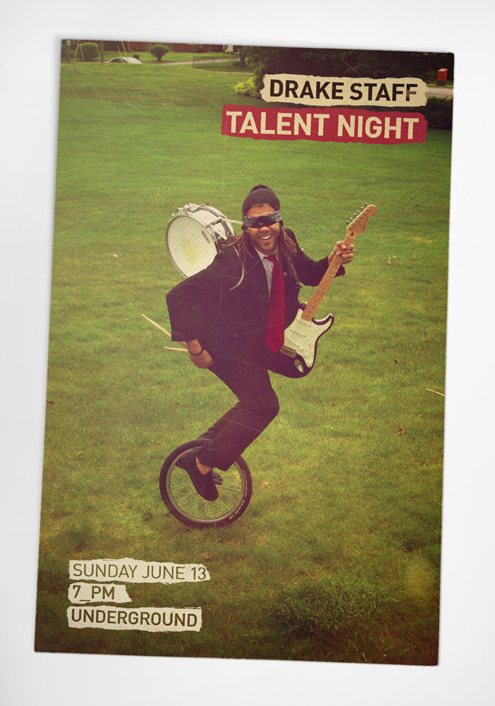 Poster for The Drake Hotel staff talent night 1