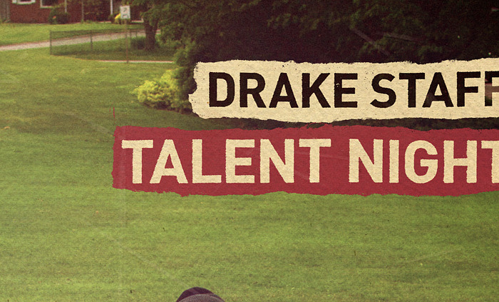 Poster for The Drake Hotel staff talent night 3