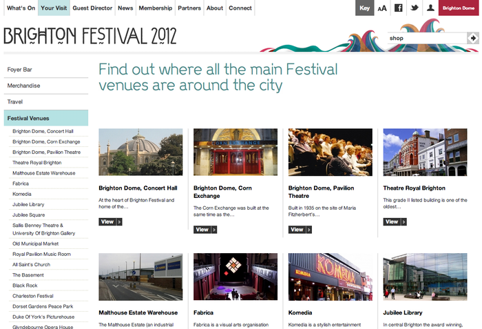 Brighton Festival 2012 Website 1