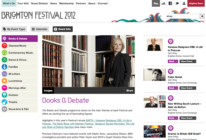 Brighton Festival 2012 Website 4