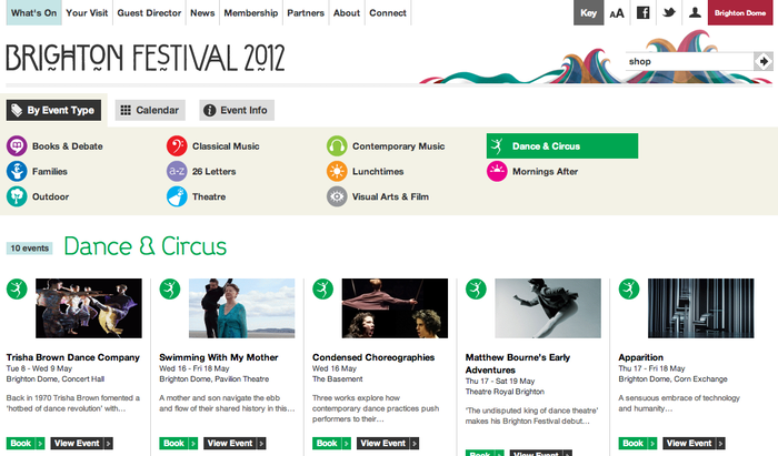 Brighton Festival 2012 Website 5